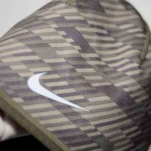Reversible Army Green Nike Run Dri Fit Skull Cap